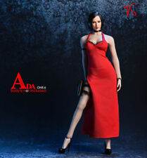 """1/6 Scale Ada Wong Red Dress Sexy Clothes Model Fit 12"""" Ph Female Action Figure"""