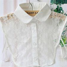 Solid Shirt False Collar White & Black Blouse Vintage Detachable Collars J gxLDU