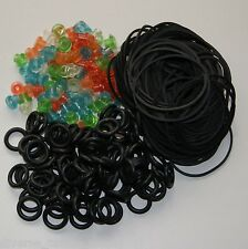 100 Opec Tattoo Grommets Nipples 100 Black Rubber Bands 100 Black ORings
