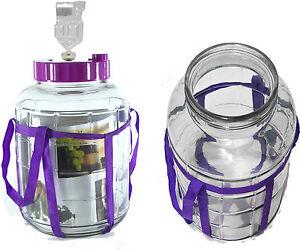 SET Gärballon Gärbehälter Glasballon Einmachgläser+Stopfen+Gährrohr Einweckglas