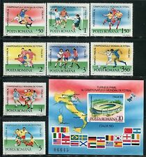 ROMANIA 1990 FOOTBALL WORLD CUP SOCCER ITALY/PLAYERS/STADIUM/ROME/FLAG/MAP/SAT