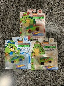 Teenage Mutant Ninja Turtles Set of 3 - Hot Wheels Leonardo, Michelangelo, Ralph
