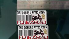 This GILERA Is Fitted with a GPS Tracker Stickers Decal x2 Alarm Lock Anti theft