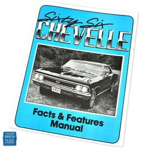 1966 Chevelle Facts & Features Manual Each