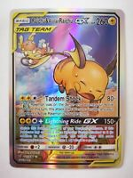 221/236 pokemon carte holo Anglaise replica FAN CARD Raichu & Alolan Raichu
