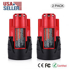 2 Pack 12 Volt 2.0Ah Battery For Milwaukee 48-11-2420 M12 Lithium-Ion 12V Tools