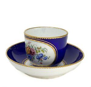 Sevres Gobelet Bouillard et Soucoupe Cup & Saucer by Vincent Taillandier 18th C.