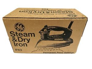 Vtg General Electric GE Steam & Dry Iron Model F63 NOS Sealed Box Opened To Test