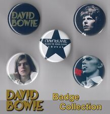 David Bowie 5 x 31 mm Button Badges - Aladdin Sane - Black Tie - Set 5 FREE POST