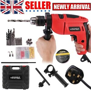 HAMMER DRILL PRO HEAVY DUTY CORDED ELECTRIC IMPACT DRILL WITH BIT SET