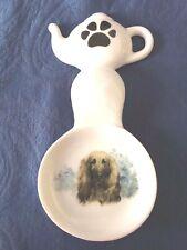 Afghan Hound Dog New Handmade Ceramic-Porcelain Tea Bag Spoon Rest Gift Pet