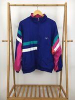 VTG 80s Lavon Women's Bold Full Zip Track Windbreaker Jacket Size L