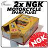 2x NGK Candele Accensione per Moto Guzzi 1100cc California Vintage (14mm) 06- >