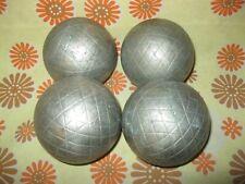 Lot x4 Anciennes BOULES LYONNAISES 990g Sport-Boule Pétanque Doublette Triplette