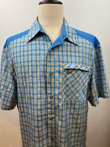 Club Ride Snap Button Cycling Bike Shirt Plaid Western Size XL / Hardly Worn!