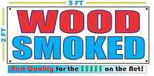 WOOD SMOKED BANNER Sign NEW