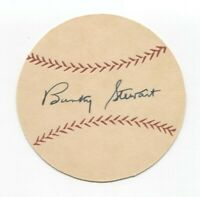 Bunky Stewart Signed Paper Baseball Autographed Signature Washington Senators