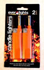 PACK OF 2- REFILLABLE GAS LIGHTERS CANDLE KITCHEN BBQ CAMPING AND COOKER SUPPLYS