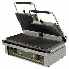 Equipex MAJESTIC, 24-Inch Countertop Double Electric Panini Grill, cULus, NSF