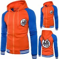 Men Dragon Ball Z Son Goku Anime Sweatshirt Jacket Hoodie Sweater Hooded Coats