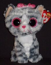 "TY BEANIE BOOS - WILLOW the 6"" CAT (JUSTICE STORE) - MINT with MINT TAGS"
