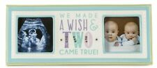 """Grasslands Road Confetti Baby Boy 3"""" x 3"""" Double Photo Frame Made a Wish 460241"""