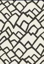 Schumacher Zimba Fabric Charcoal And White Fabric