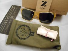 "New ZEAL Optics Brewer  ""Brown Sugar"" / Dark Grey Polarized Sunglasses with Case"