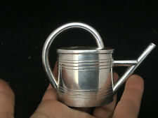 Arrosoir Miniature Argenterie Métal Argenté Antique watering can French
