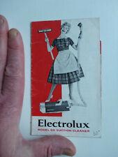 old booklet Electrolux model 65 suction cleaner instruction book hoover