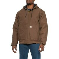 Carhartt J140 Quilted-Flannel-Lined Duck Active Jacket (XL, Coffee) Reg $129