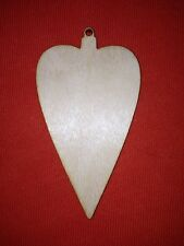 10 x BAUBLE n14 HEART - PLAIN -  SHAPE UNPAINTED WOODEN  X-MAS TREE HANGING TAG