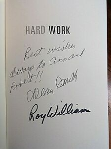 Roy Williams ~ Hard Work ~ Signed by Williams and Dean Smith ~ OOAK! ~ 2009