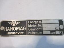 Targa Ì Hanomag Sturm Corriere Garant Rekord Alluminio Prima Krieg Automobile