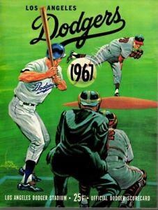 1967 6/25 Baseball program San Francisco Giants @ Los Angeles Dodgers, scored~VG