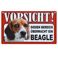 Warnschild Beagle Hundeschild dog 20cm x 12cm hund schild innen aussen tor tür