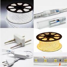 LED Strip 220V 230V 240V IP67 Waterproof  5050 SMD Lights Rope+ power cord FREE