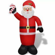 vidaXL Opblaasbare Kerstman 240 cm Verlichting Kerst Man Kerstversiering Lamp