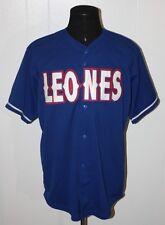 Rivera Sports Equipo De Leones Blue Baseball Jersey XL