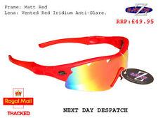 Occhiali e monolente da ciclismo con montatura in rosso unisex adulto e mantatura in plastica