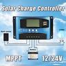 30A-60A 12V/24V Solar Panels Battery Charge Controller Regulator + Dual USB lot#