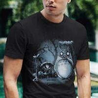 Totoro T Shirt My Creepy Neighbor Horrific Ghibli Film Movie T Men's Black Tee