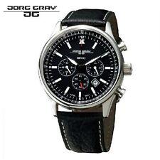 EW JORG GRAY JG6500 PRESIDENT OBAMA EDITION CHRONOGRAPH w BLACK LEATHER STRAP
