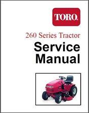 Toro 264 265 267 268 269 270 Lawn & Garden Tractor Service Manual CD