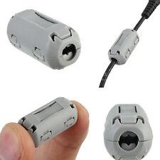 5pcs 7mm Noise Suppressor EMI RFI Clip Choke Ferrite Core Cable Filter Grey SL