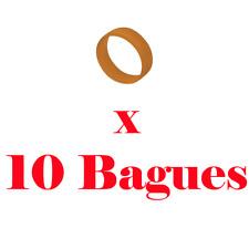 10 Bagues de Répérage Couleur Orange pour Fiche XLR Neutrik Série XX ref XXR1