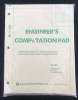 Vintage Engineer's Computation Pad - American Pad and Paper Co. Holyoke, MA