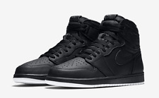 2017 Nike Air Jordan 1 Retro High OG SZ 9 Black Perforated Premium 555088-002