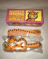 VTG 1978 GARFIELD THE CAT BRUSH & COMB SET NEW IN ORIGINAL BOX AND PACKAGING