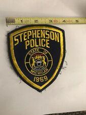 Q Stephenson Police Patch 1969 Michigan Defunct used